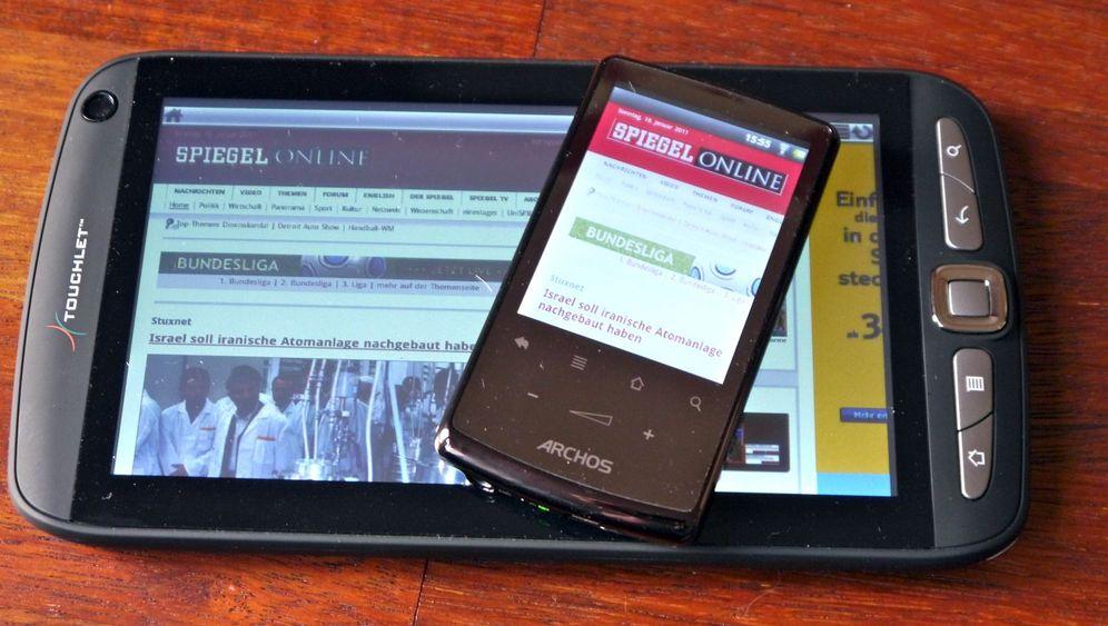 Display, Leistung, Akku: Wie sich Touchlet und Tablet schlagen