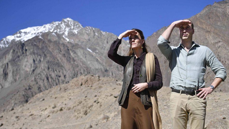 Der künftige Thronfolger William und seine Frau Kate (während ihrer Pakistan-Reise im Herbst 2019 am Khaiberpass): Wohin geht die Reise jetzt, ohne Bruder und Schwägerin?