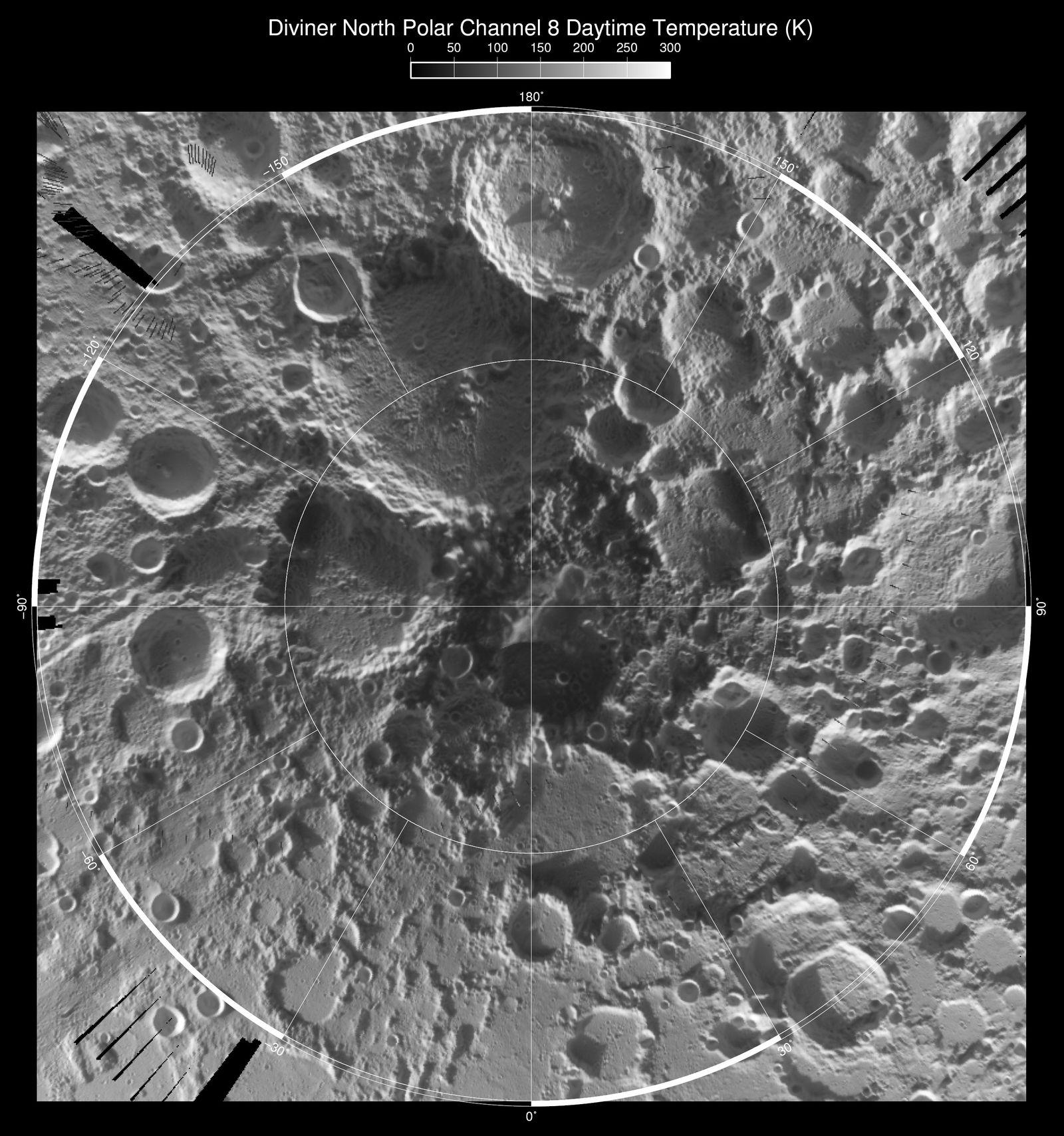 Wärmekarte / Mond / LRO