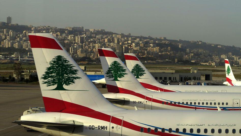 Maschinen der Middle East Airlines in Beirut (Archivbild): Zwischenfall über den Wolken
