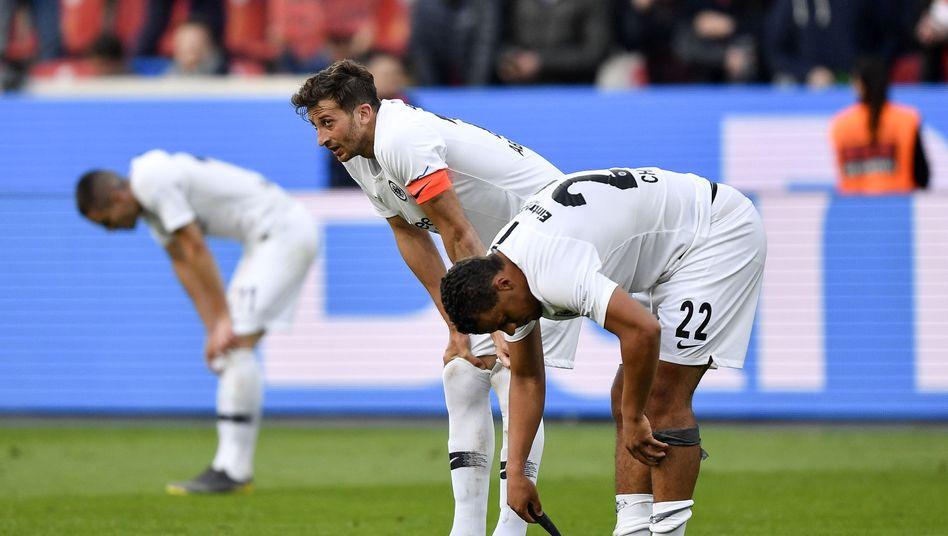Eintracht-Profis am Ende der Kraft