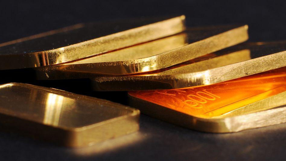 Goldbarren: Euro-Gewinn trotz Dollar-Verlust
