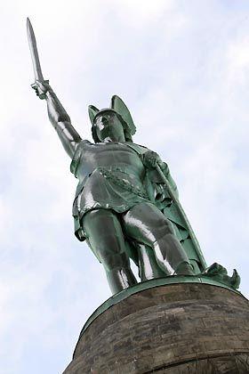 Hermannsdenkmal in Detmold: Der Cheruskerfürst Arminius schmiedete eine Allienz gegen Rom