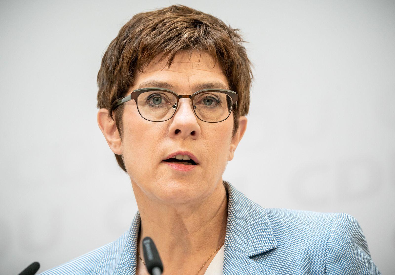 Kramp-Karrenbauer: Lehren aus Corona-Krise in CDU berücksichtigen