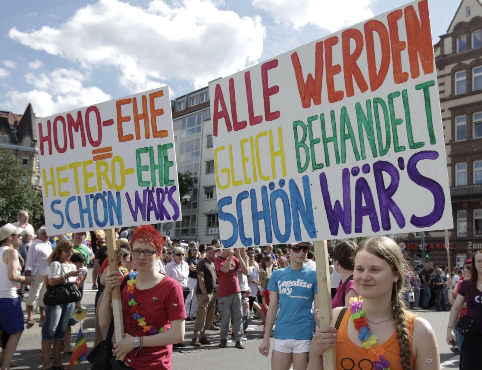 NICHT VERWENDEN CSD Stuttgart/ Demo Homo-Ehe