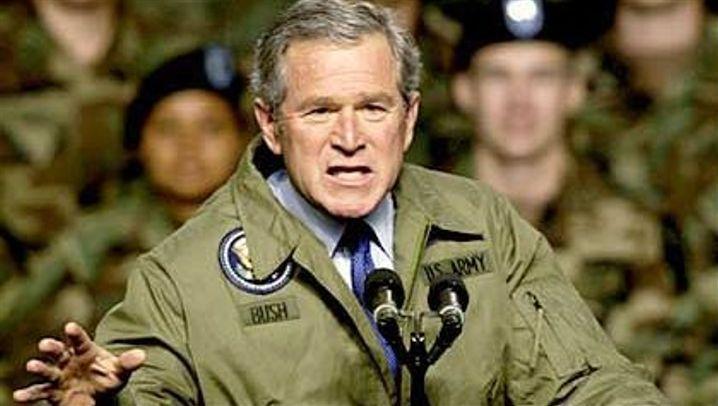 Spaltpilz: Bushs Gesicht macht aggressiv