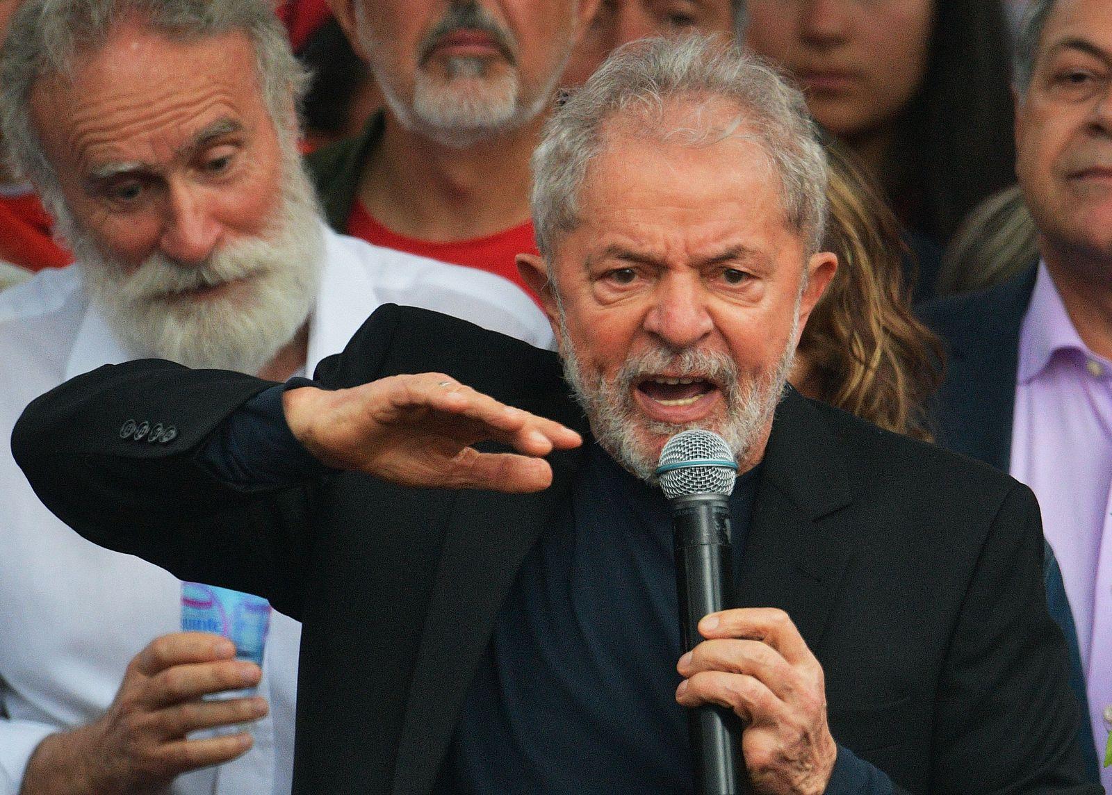 BRAZIL-JUSTICE-LULA DA SILVA-RELEASE