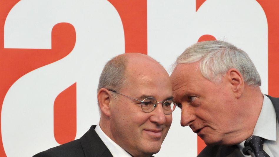 """Linke-Politiker Gysi und Lafontaine: """"Die SPD muss ein riesiges Stück auf uns zukommen"""""""