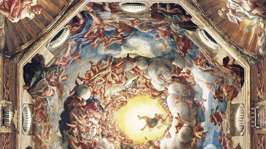 Kuppelfresko »Mariä Himmelfahrt« aus dem 16. Jahrhundert im Dom von Parma