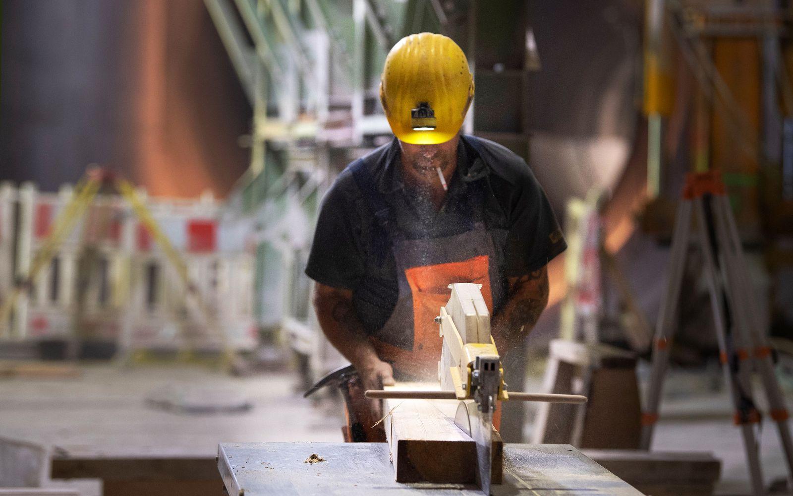 Konjunktur / Baustelle / Bauarbeiter / Konjunkturpaket