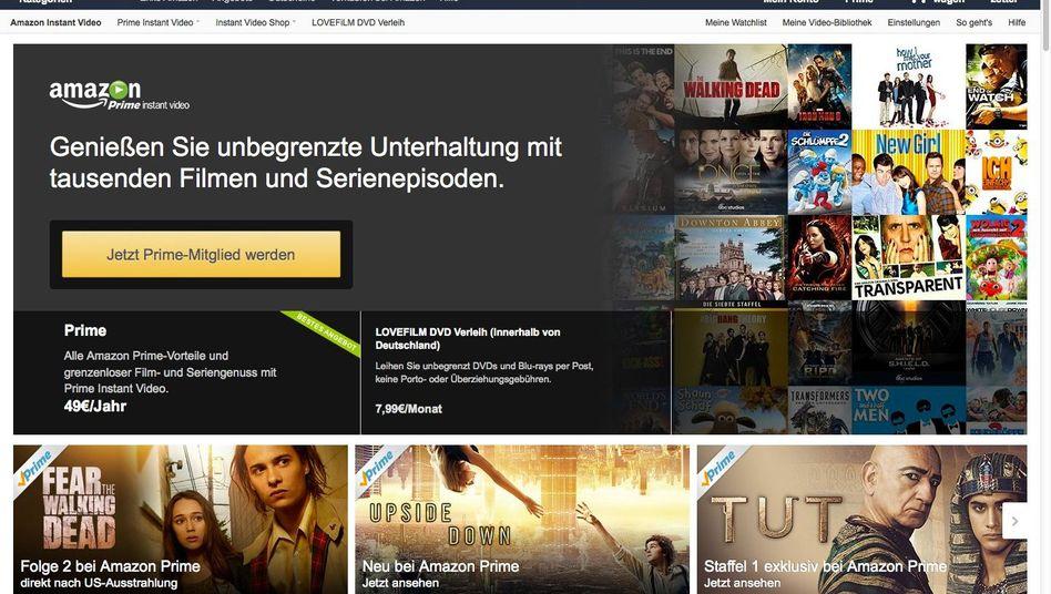 Werbeseite von Prime Instant Video: Der Dienst kostet bei Amazon 49 Euro im Jahr