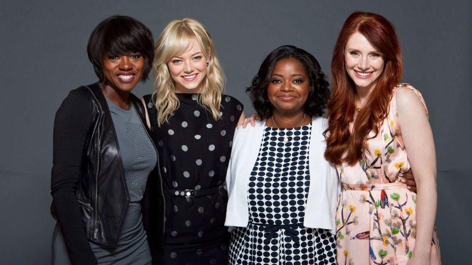 """The Help""-Darstellerinnen:Viola Davis, Emma Stone, Octavia Spencer and Bryce Dallas Howard"