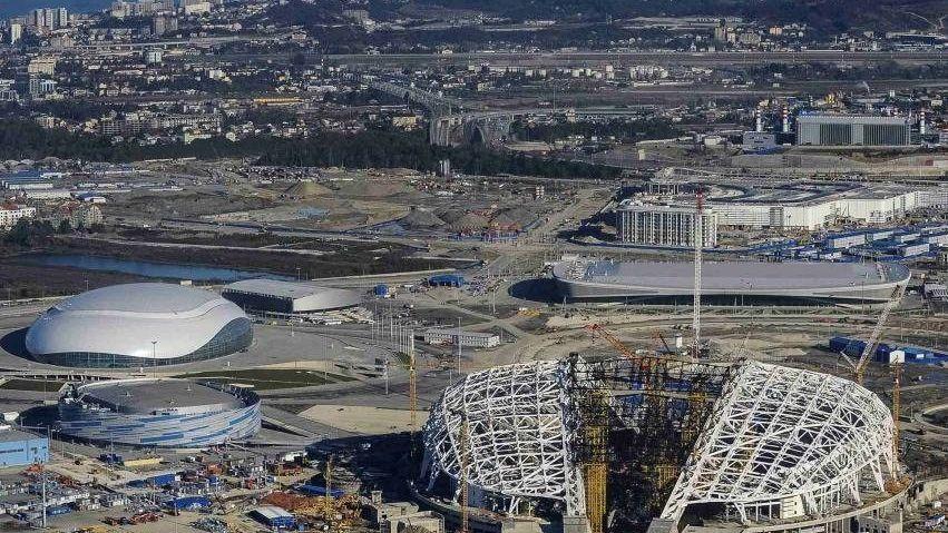 Bauarbeiten am Olympiagelände Sotschi