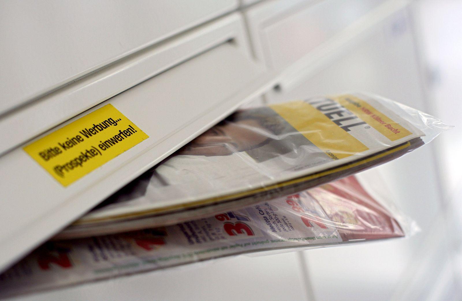 Werbung im Briefkasten