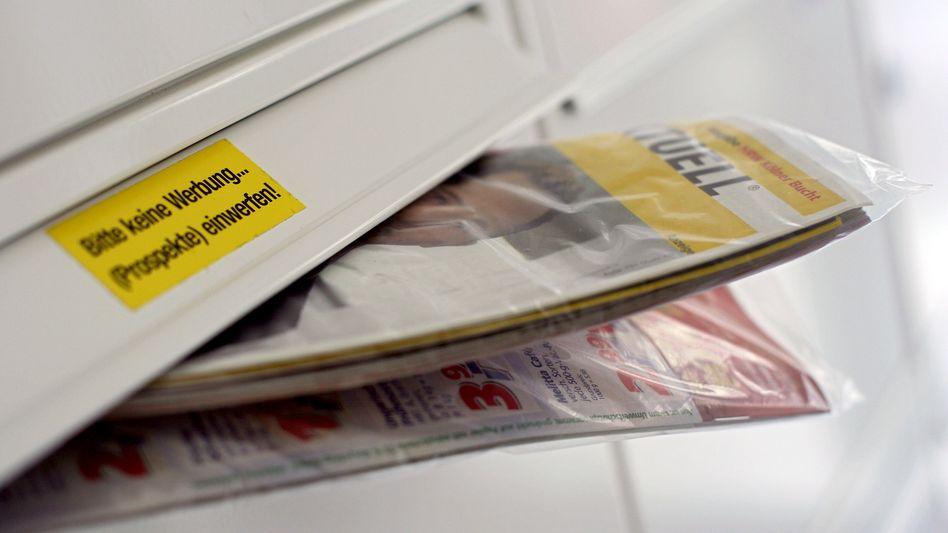 Überfüllter Briefkasten: Das Meiste für den Mülleimer