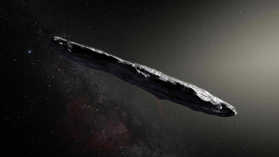 Eine künstlerische Darstellung von Oumuamua