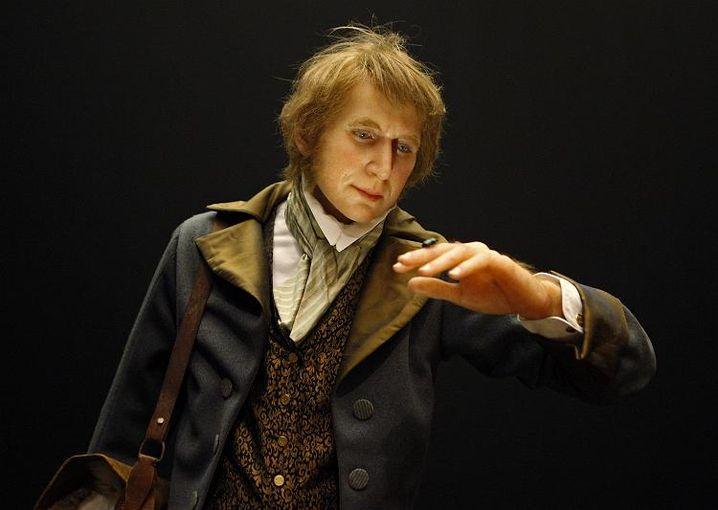 Wachsfigur des jungen Darwin (in Lissabonner Ausstellung): Wissen und Glauben immer strikt trennen
