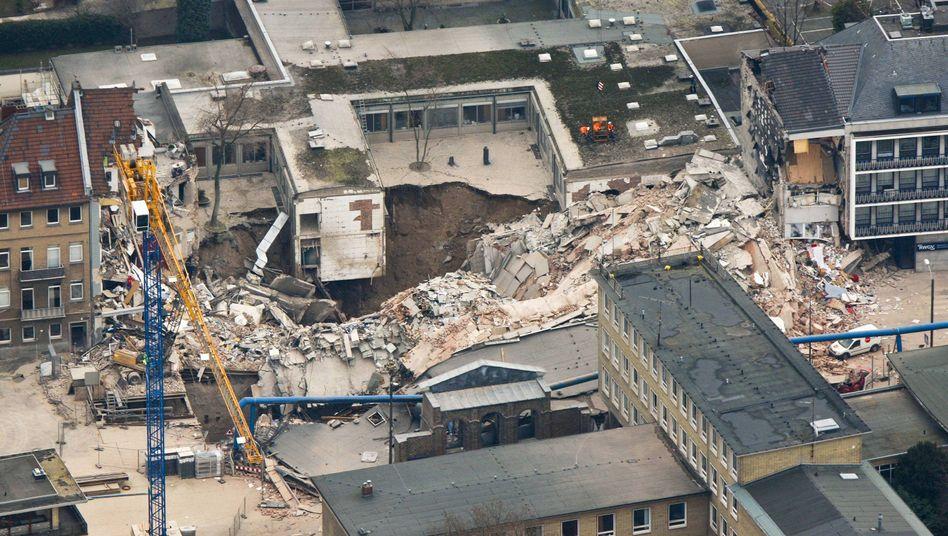 Eingestürztes Stadtarchiv in Köln: Ermittlungen gegen Bauunternehmen