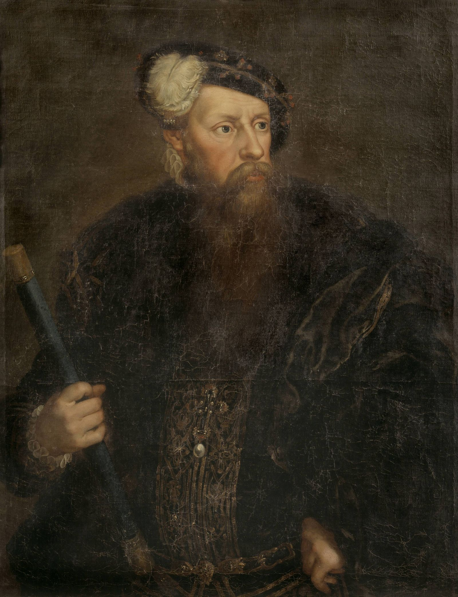 Attributed to Lorens Pasch the Younger, King Gustav I, Gustav I (approx. 1497-1560), King of Sweden Swedish, Gustav Vasa