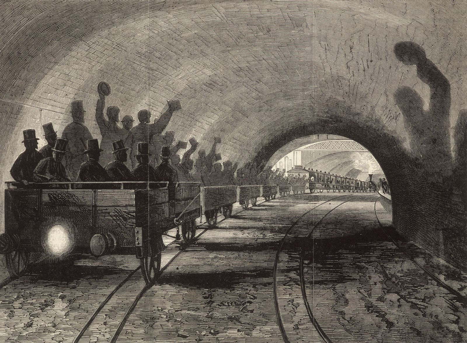Metropolitain Le chemin de fer metropolitain a Londres . Illustration d apres FORSTER in. L Univers illustre du 19/09/18