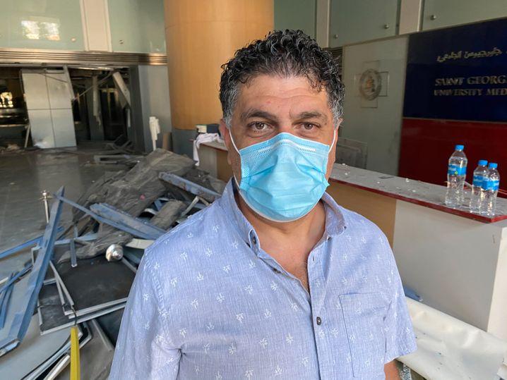 Eid Azar arbeitet im Saint George Hospital im Beiruter Stadtviertel Geitawi: Vier Krankenschwestern starben durch die Explosionen