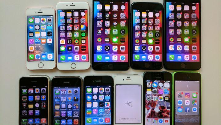 Entwicklung von 2007 bis 2017: So haben sich iPhones verändert