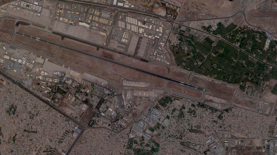 Luftbild des Flughafens von Kabul