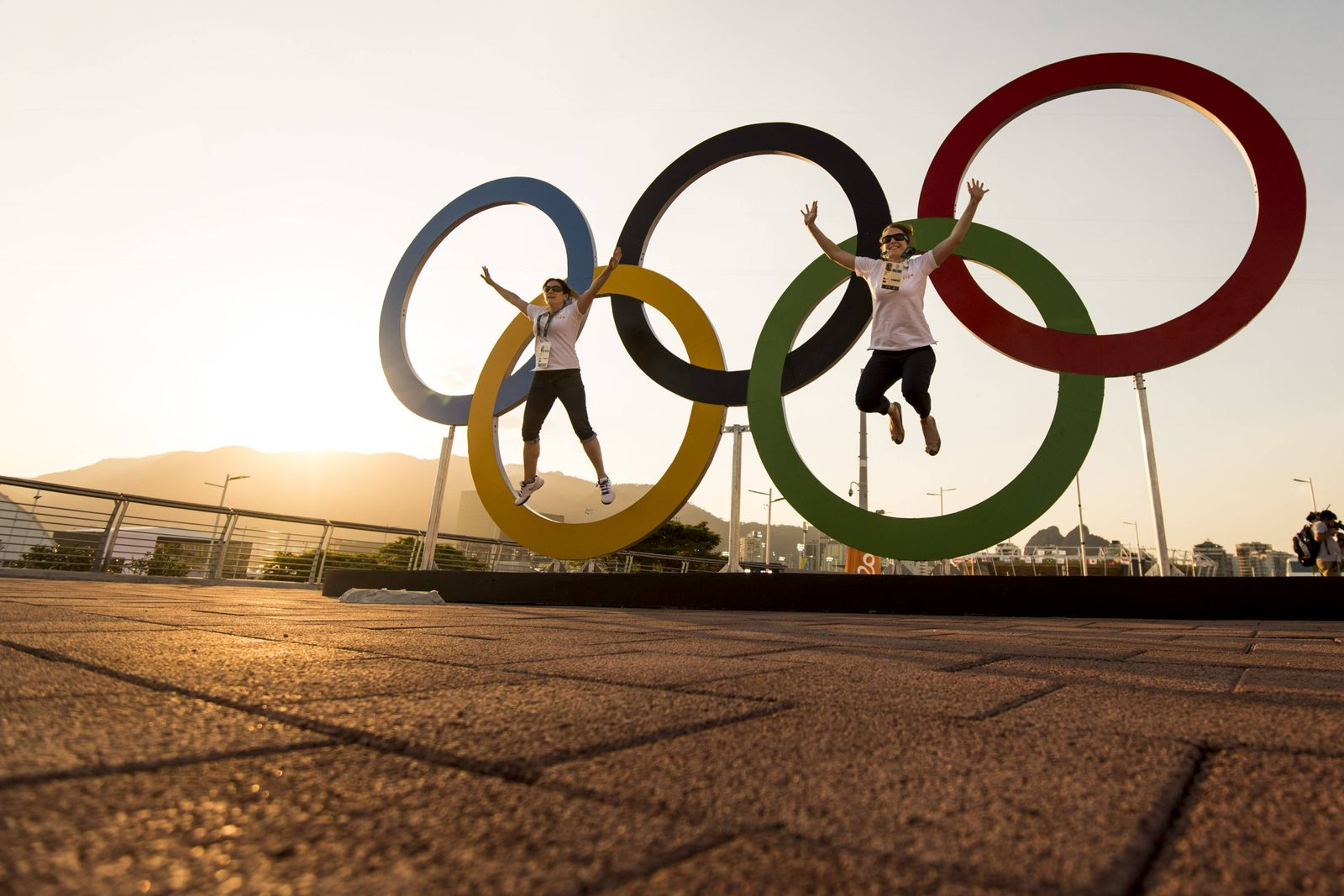 EINMALIGE VERWENDUNG Olympia / Ringe