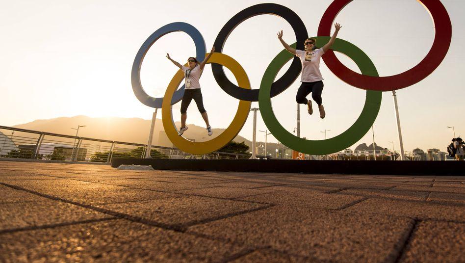 Olympische Ringe in Rio de Janeiro