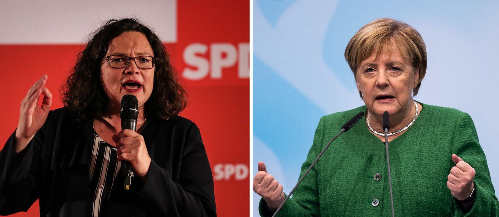 Merkel / Nahles Kombo