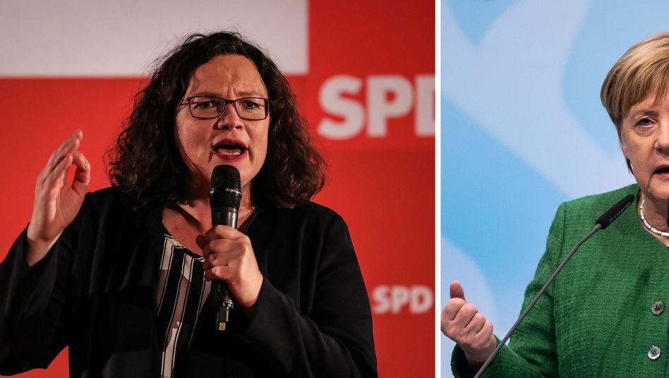 Nahles, Merkel in Hessen: Geht die GroKo K.o.?