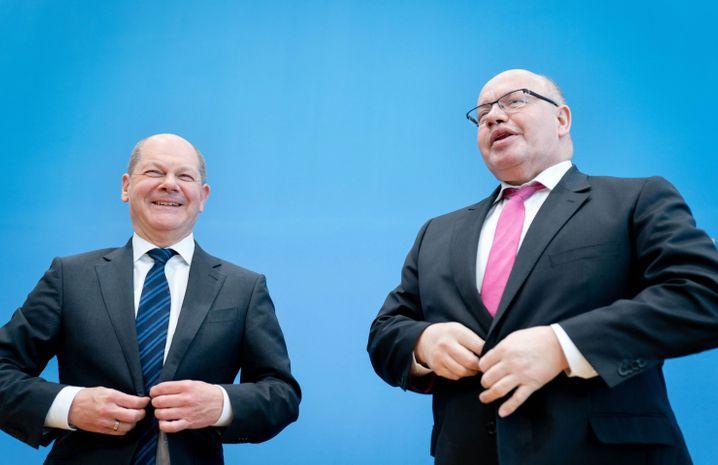 Keine Sozialisten: Finanzminister Scholz und Wirtschaftsminister Altmaier