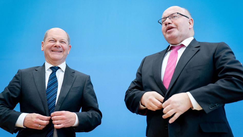 Finanzminister Scholz und Wirtschaftsminister Altmaier (März 2020)