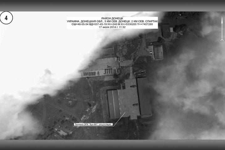 Foto des russischen Verteidigungsministeriums, datiert auf den 17. Juli 2014, 11.32 Uhr: Gebiet nördlich von Donezk