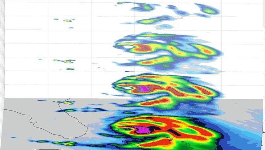 Die Aufnahmen eines Mini-Satelliten der Nasa zeigen, wo die stärksten Luftwirbel nach oben drängen