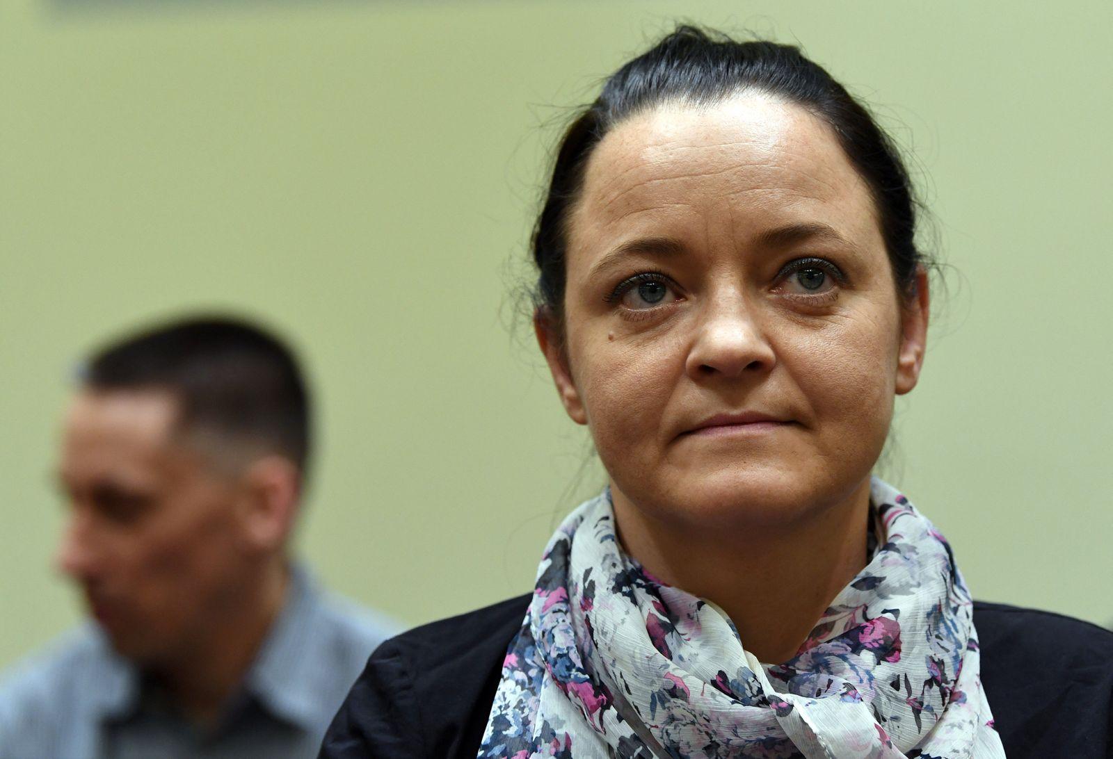 Defendant Zschaepe in a courtroom in Munich