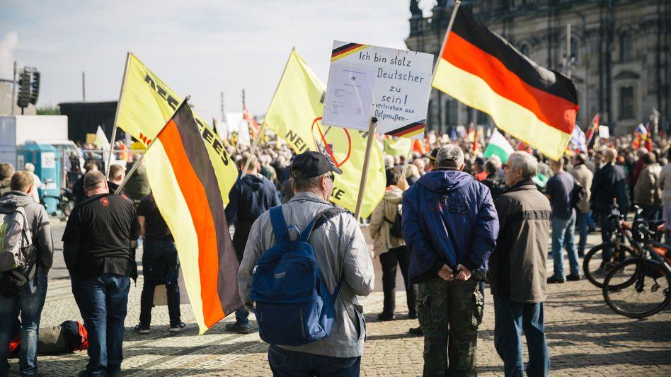 Pegida-Anhänger (im Oktober in Dresden)