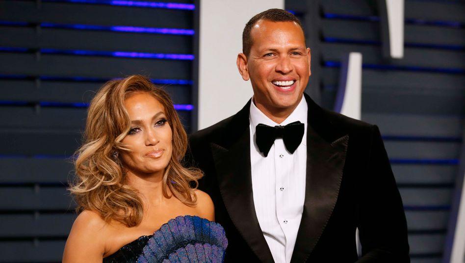 Jennifer Lopez und Alex Rodriguez (Archivbild): Prominente Gratulanten
