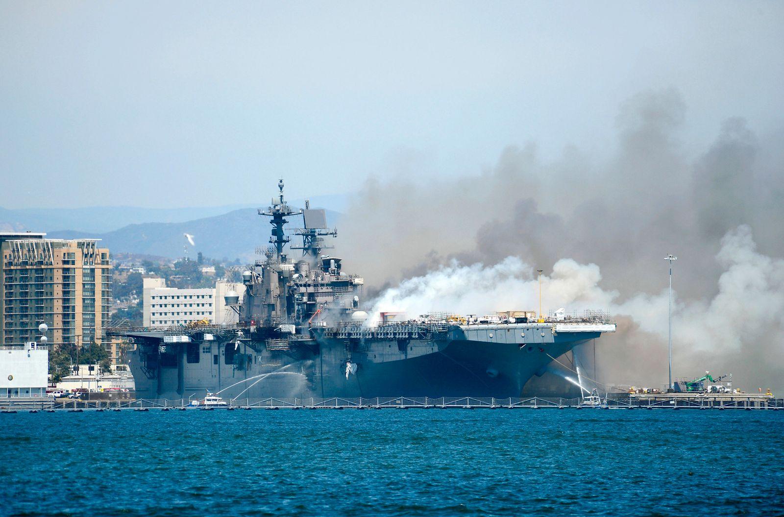 Navy Ship Fire