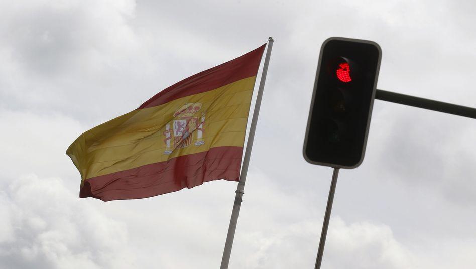 Spanische Nationalflagge: Defizit von 6,3 Prozent im kommenden Jahr erwartet