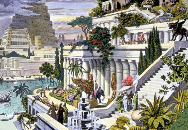 Hängende Gärten von Babylon (Illustration): Hingen sie in Wahrheit in Ninive?