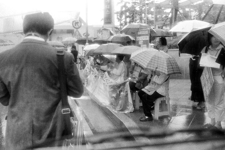 Mittwochsdemo vor der japanischen Botschaft in Seoul