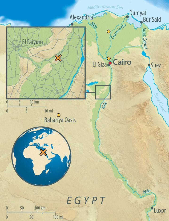 Abusir-el Meleq (mit dem X gekennzeichnet)