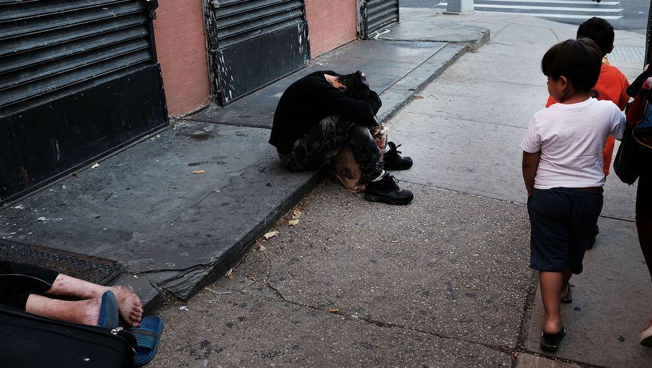 Drogennutzerin in New York