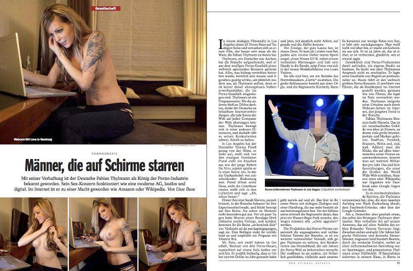 EINMALIGE VERWENDUNG EINMALIGE VERWENDUNG Ausriss Thylmann aus SPIEGEL 51/2012