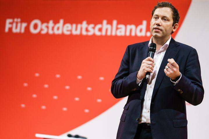 Lars Klingbeil bei einem Wahlkampfauftritt am vergangenen Wochenende in Halle