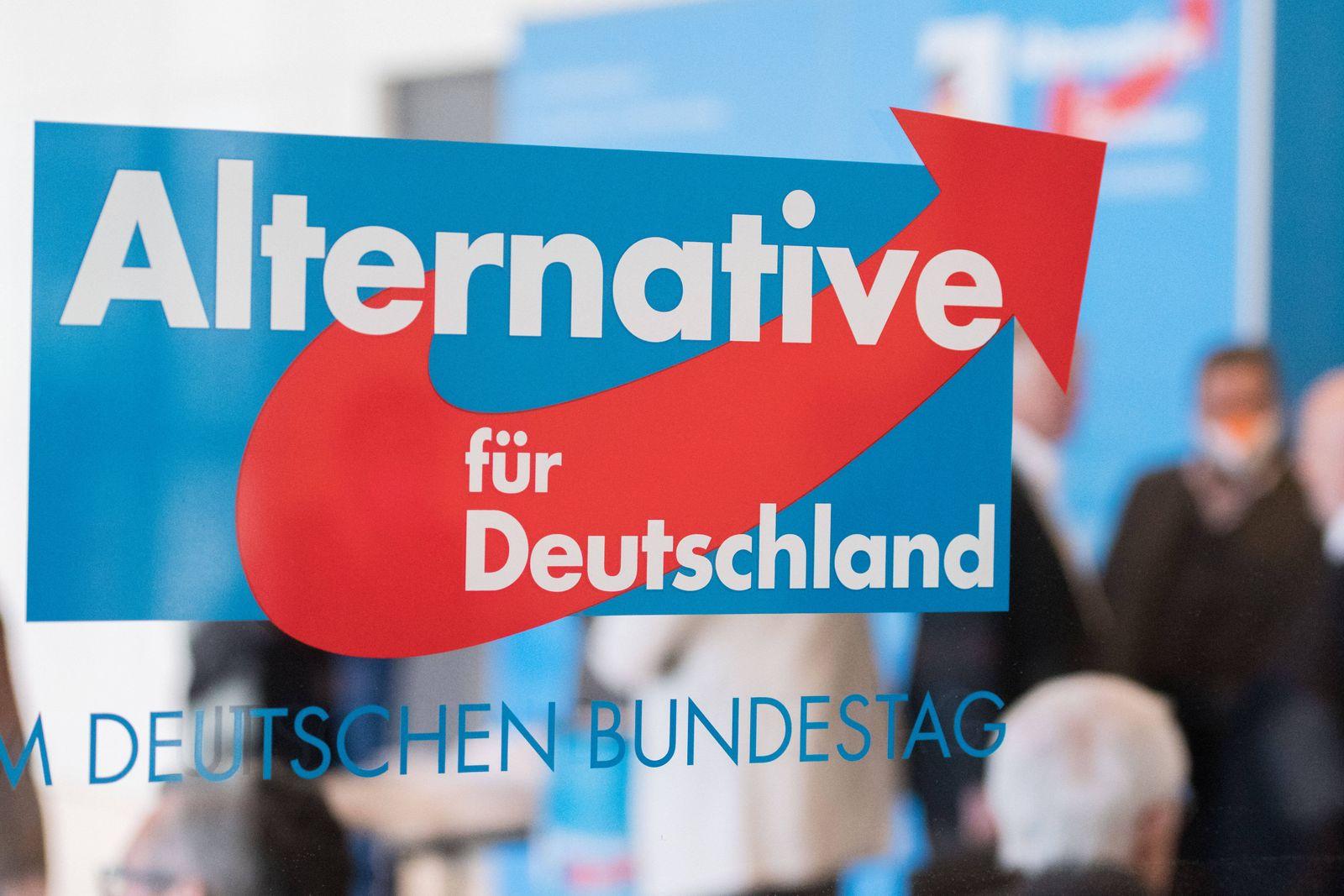 Berlin, Afd Fraktion verteilt Masken an ihre Abgeordneten Deutschland, Berlin - 21.04.2020: Im Bild ist das Logo der AFD