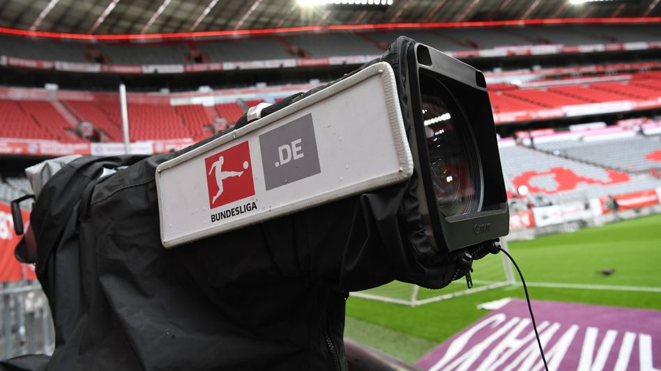 Fernsehkamera im Stadion von Bayern München