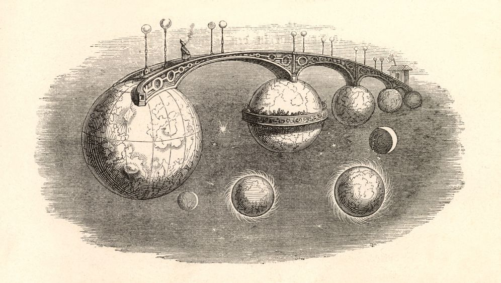 Karikaturen: Technikvisionen des 19. Jahrhunderts