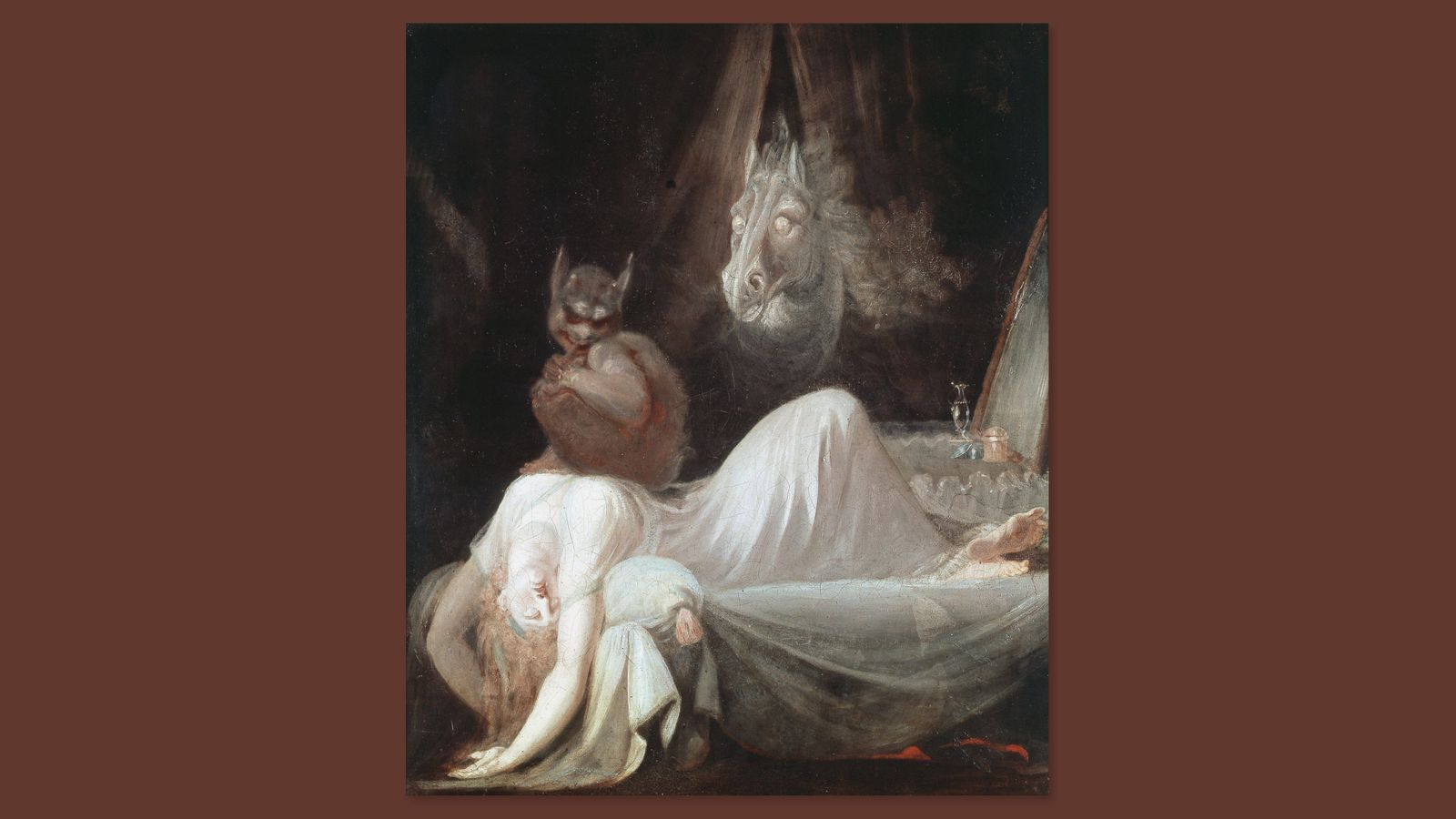 The Nightmare 1781 Painting by Henry Fuseli Johann Heinrich Fussli 1741 1825 Swiss born English